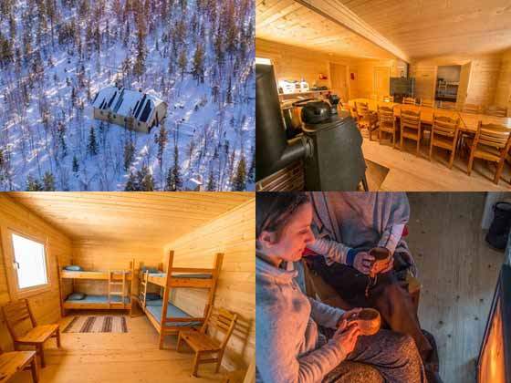 Wilderness cabin for overnight ski tour