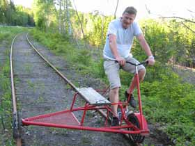Railway cycle trolley