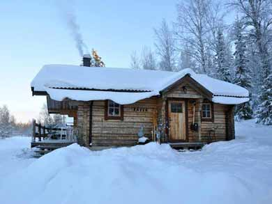 Winter Log Cabins Lodges Sweden Finland Nature Travels