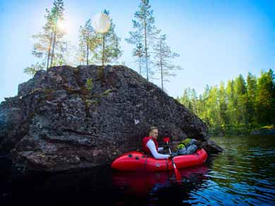Discover Packrafting in Helvetinjärvi National Park