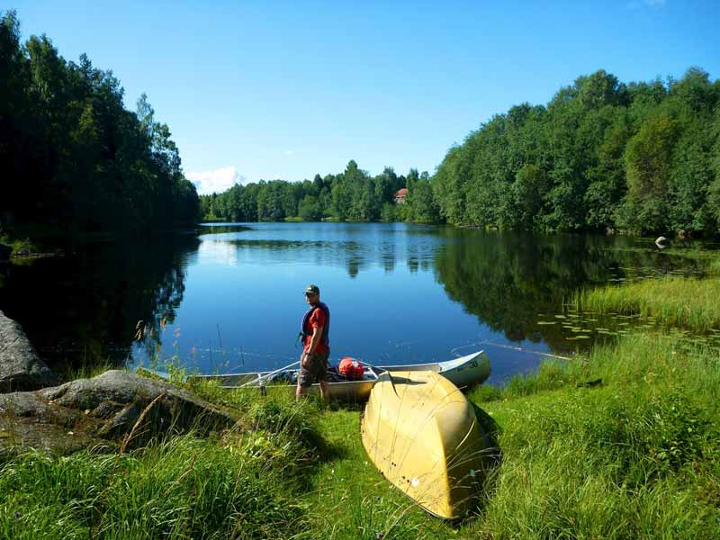 Canoeing and wild camping is a great way to enjoy the Right of Public Access