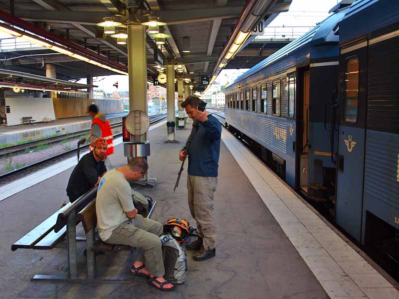 Railway platform in Sweden