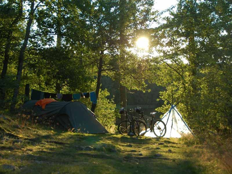 Camping for one night on the 5-day tour