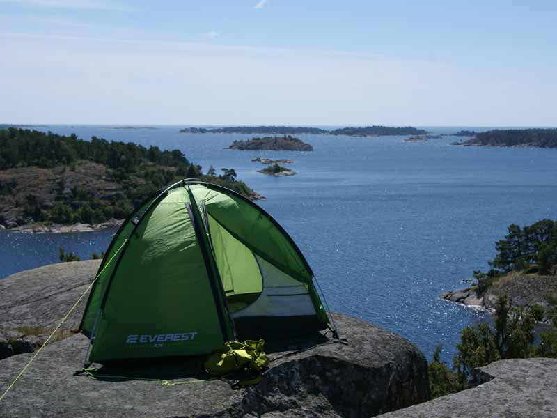 Wild camping in St Anna and Gryt Archipelago