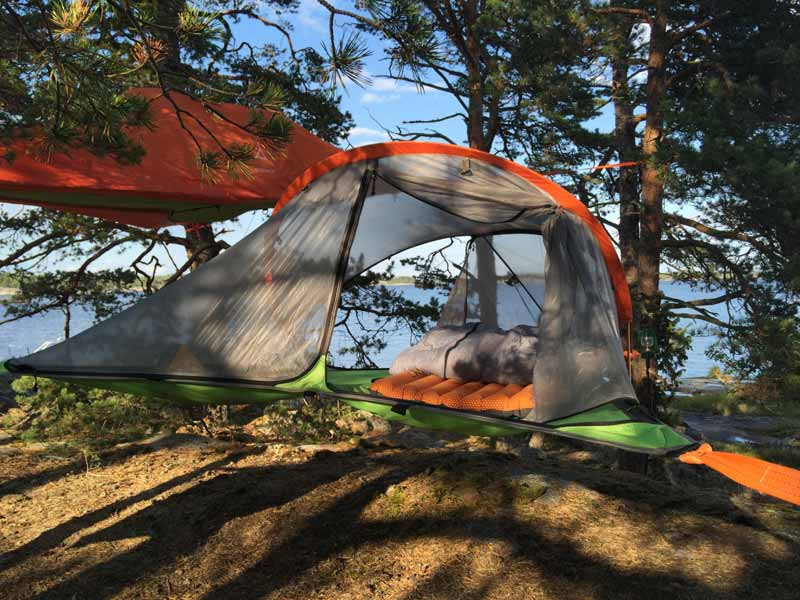 Tree tents in St Anna and Gryt Archipelago