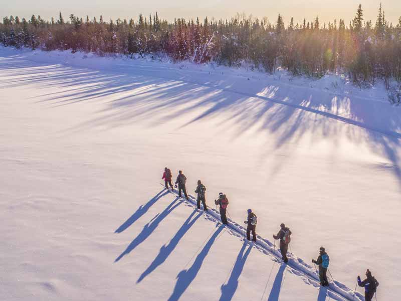 Overnight ski tour to wilderness cabin in Lapland