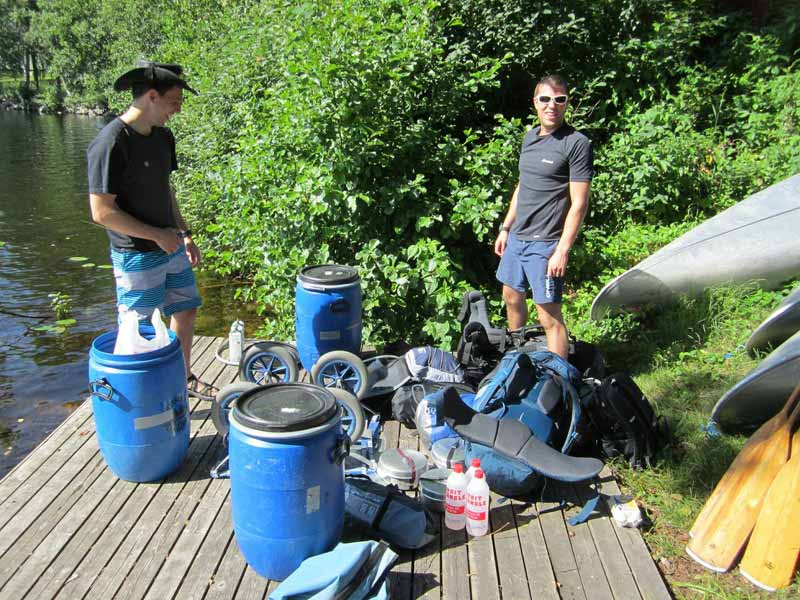 Storing food and personal items for your canoe tour