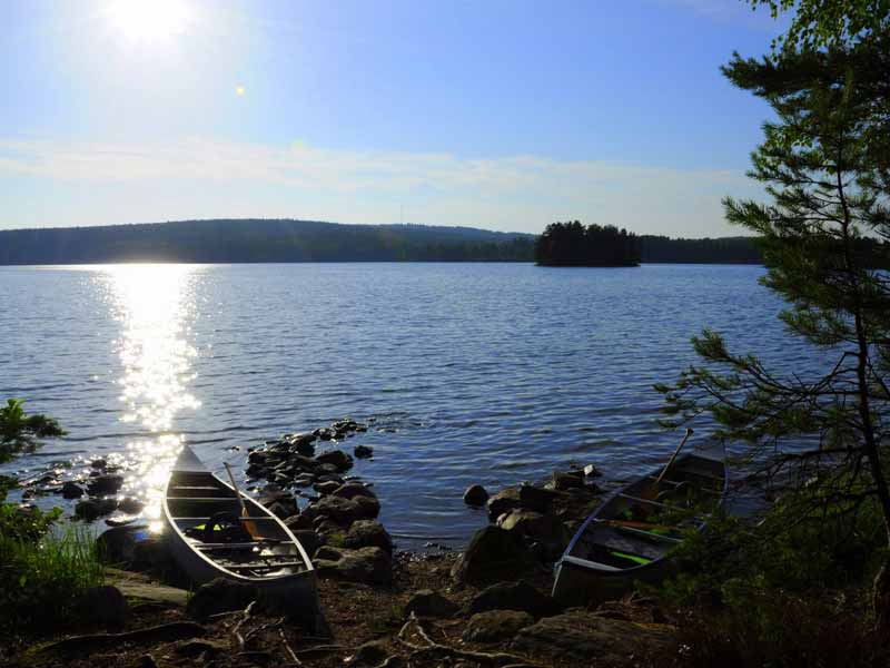 Canoeing in Dalsland's Lake District