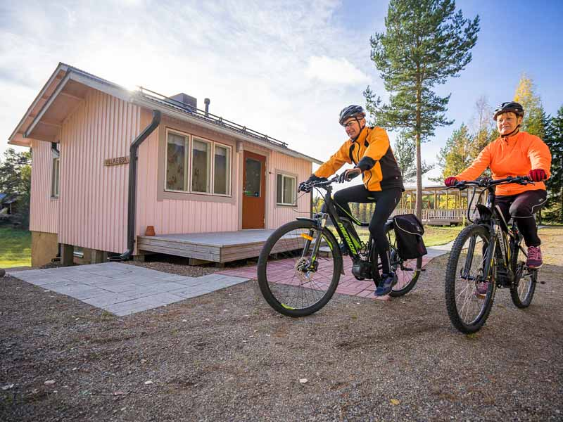 Cycling at the Romantic Cabin