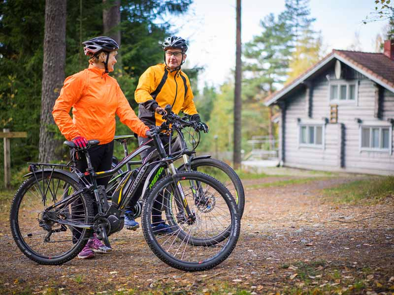 Cycling at the Log Cabin Getaway