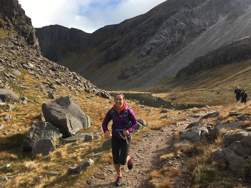 Running in the Scottish Highlands