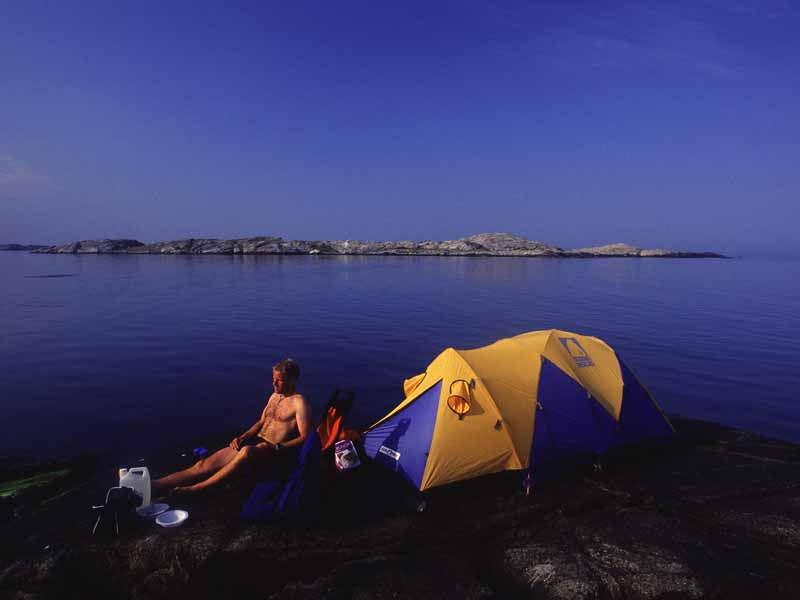 Wild camping during the kayak tour