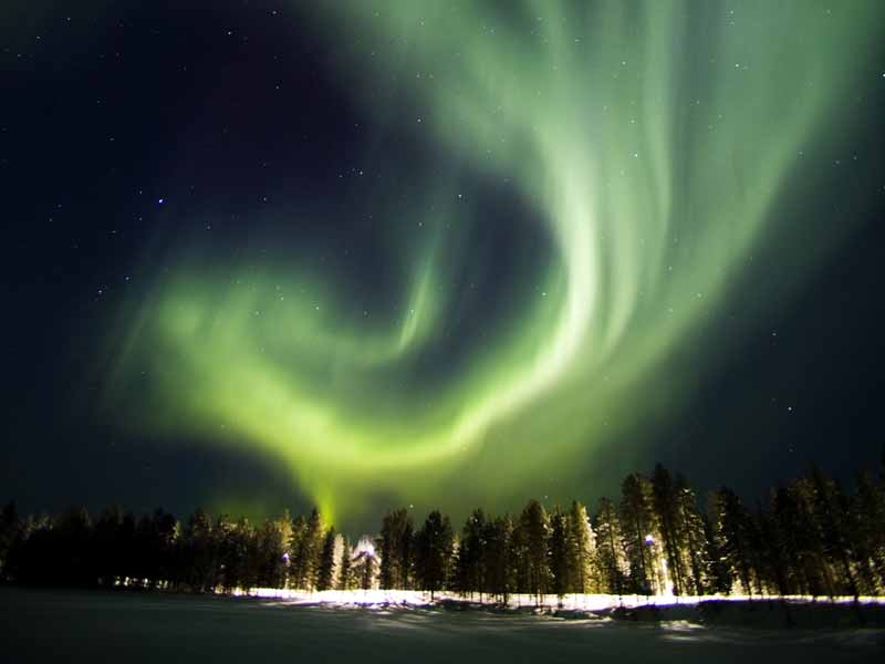 Northern Lights in Hossa National Park