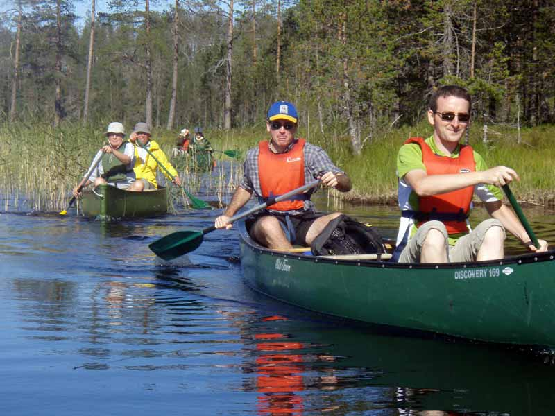 Optional canoe day during the tour