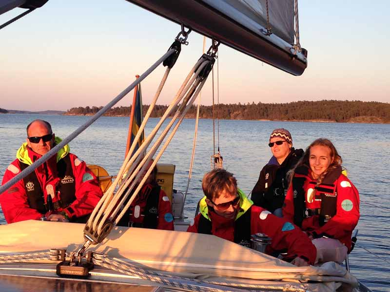 Family sailing in the Stockholm Archipelago