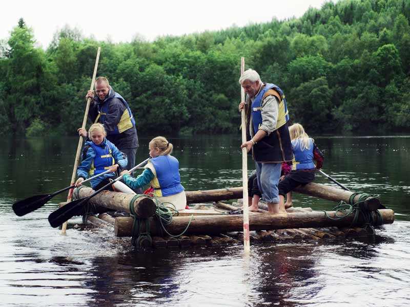 Timber rafting is suitable for all ages