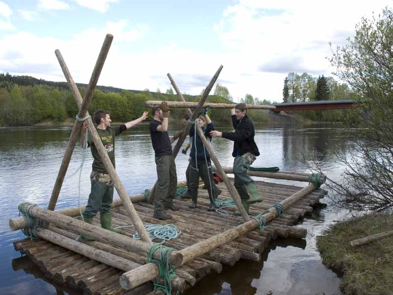 Timber Rafting on Klarälven