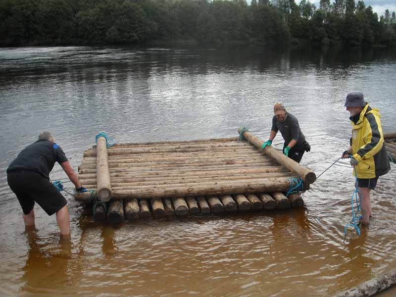 Building your own timber raft