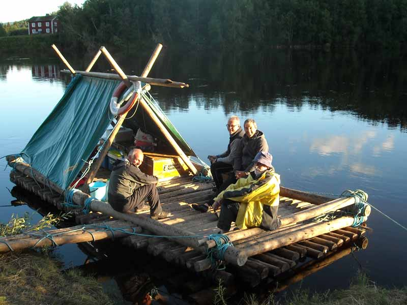 Timber rafting is ideal for groups of friends
