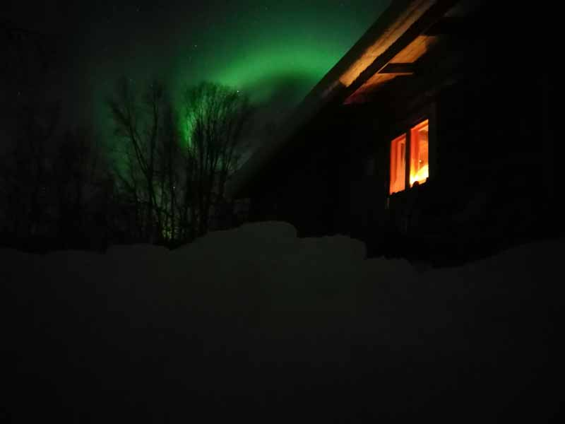 Backcountry Skiing and Northern Lights in Finnish Lapland
